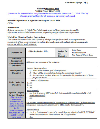 work plan template in pdf