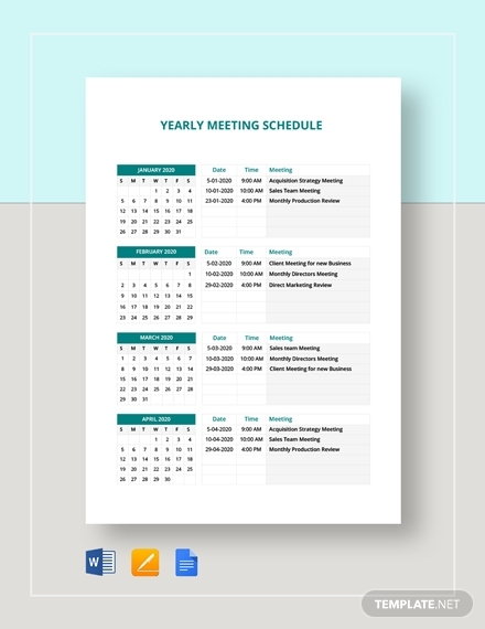 yearly meeting schedule1