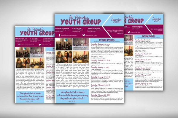 youth group church newsletter