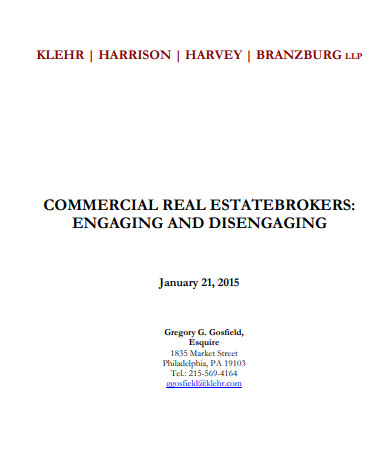 commercial real estate brokerage agreement