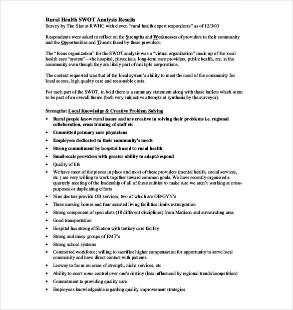 FREE 10+ Best Nursing SWOT Analysis Examples & Templates