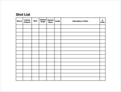 Film Shot List Template from images.examples.com