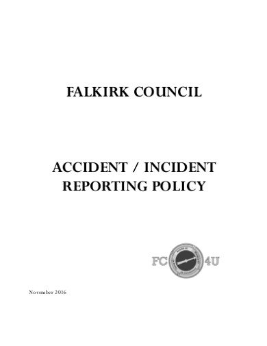 accident incident reporting policy