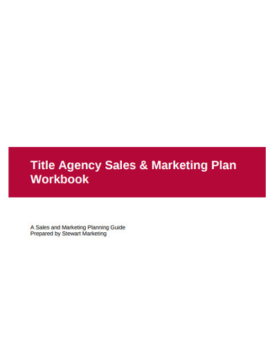 agency sales marketing plan
