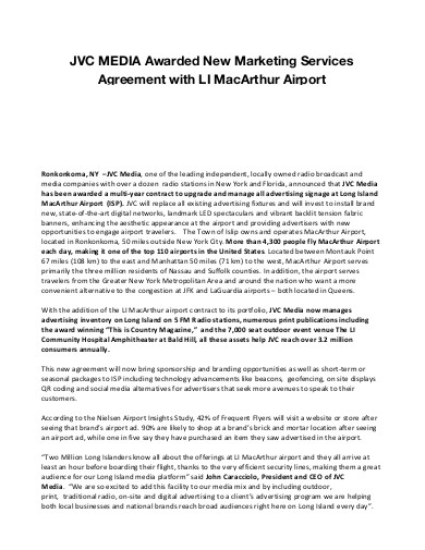 airport marketing services agreement