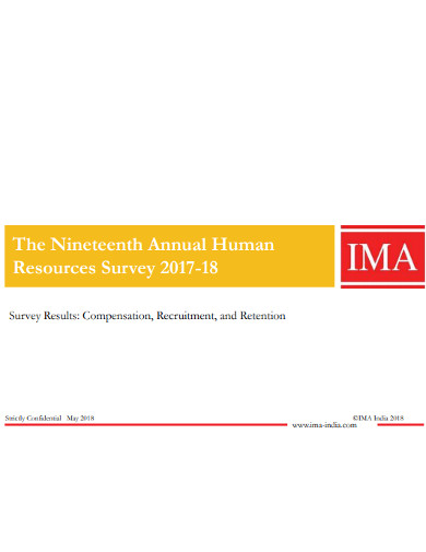 annual human resources survey