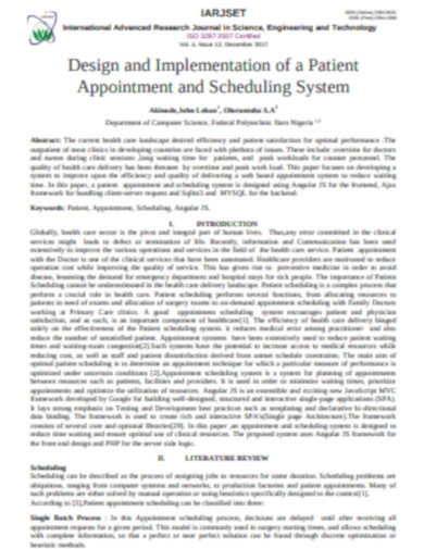 appointment schedule in pdf