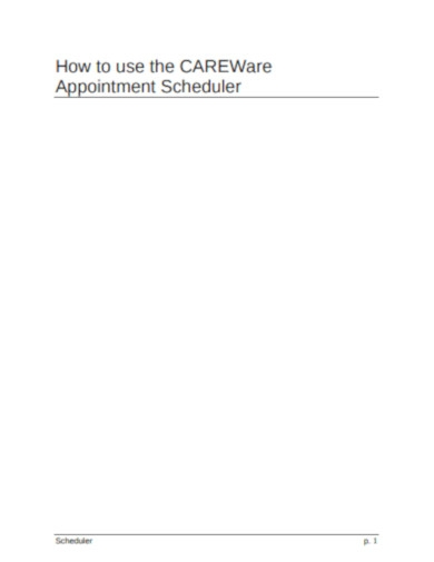 appointment scheduler example
