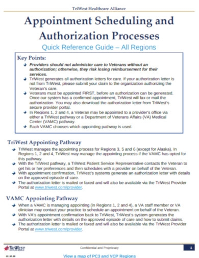 appointment scheduling and authorization processes