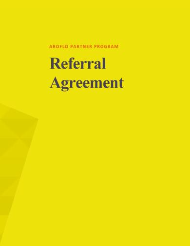 aroflo partner referral agreement