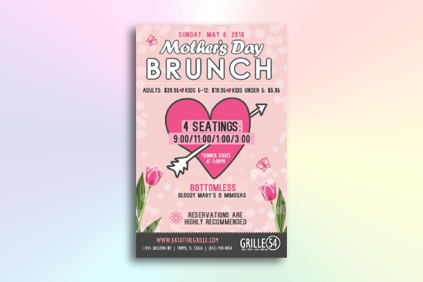 artsy mothers day event flyer