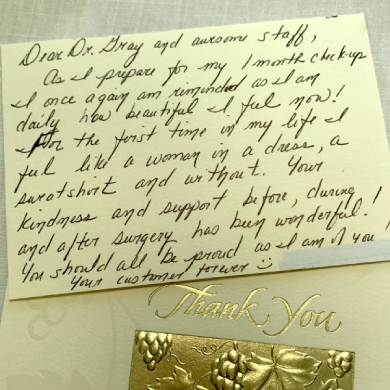 atlantic plastic surgery medi spas patient thank you note