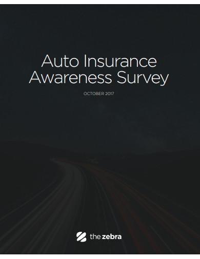 auto insurance awareness survey