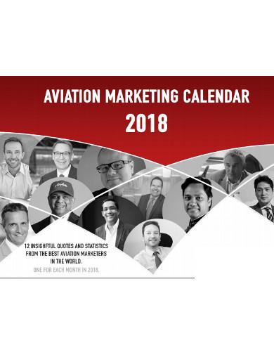 aviation marketing calendar