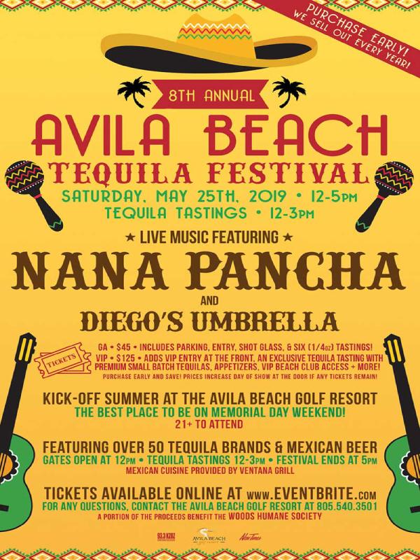 avila beachs annual tequila festival flyer