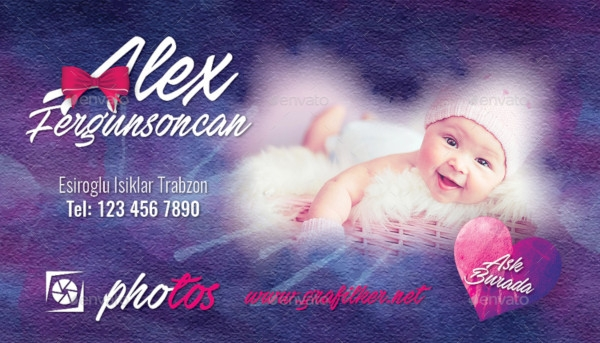 baby event business card