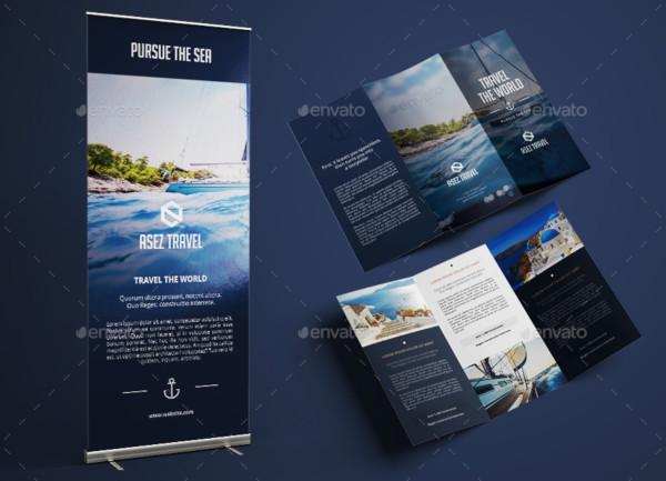 banner travel brochure