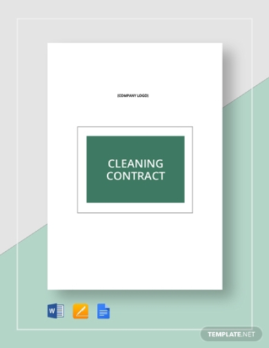 basic cleaning business contract