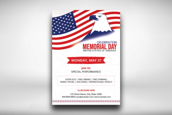 basic memorial day flyer