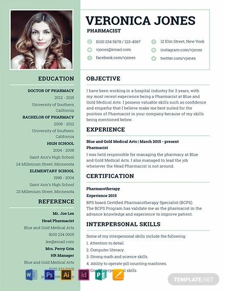 basic pharmacist resume template