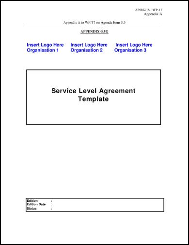 basic service level agreement