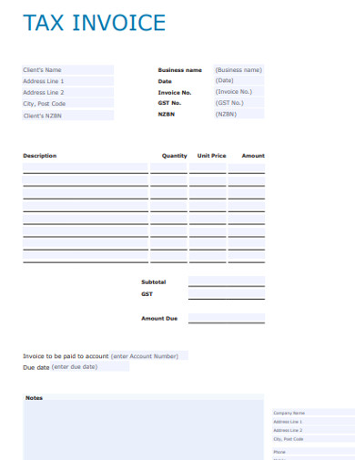 basic tax invoice