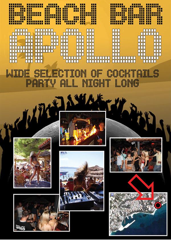 beach bar apollo flyer