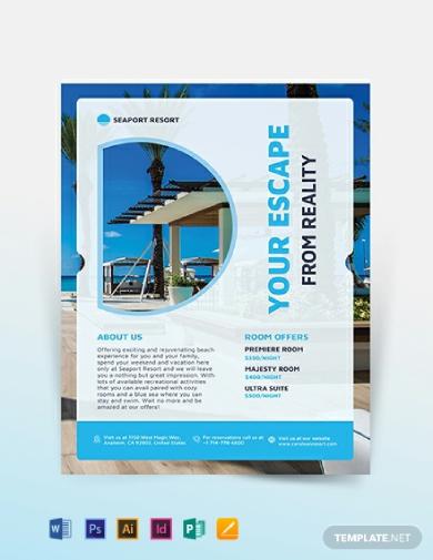beach resort flyer