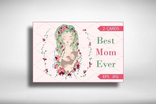 best mom ever mothers day greeting card