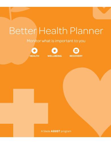 better health planner