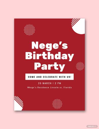 birthday program
