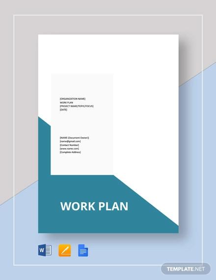 blank work plan template