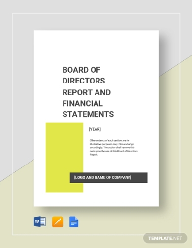board of directors report