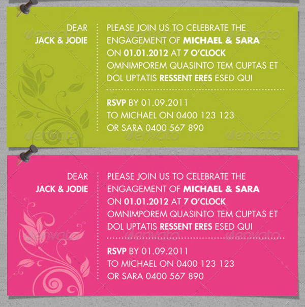 bold modern event invitation