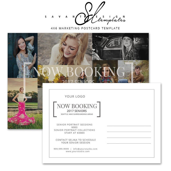 booking marketing template postcard