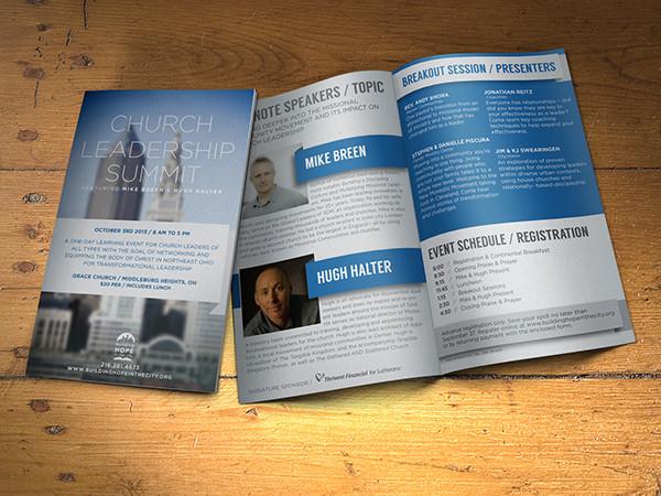 brochure for non profit event