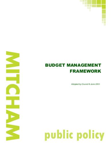 budget management framwork