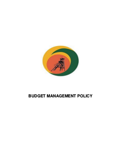 budget management policy