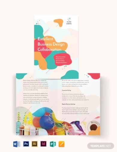 business event bi fold brochure