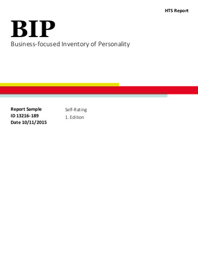 business focused inventory of personality