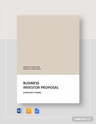 business investor proposal
