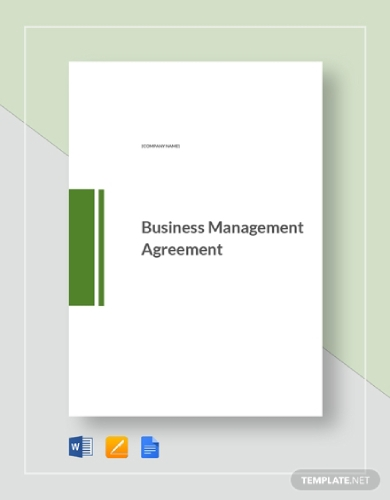 business management agreement
