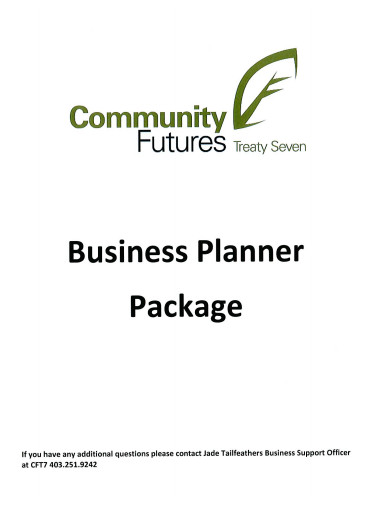business planner package
