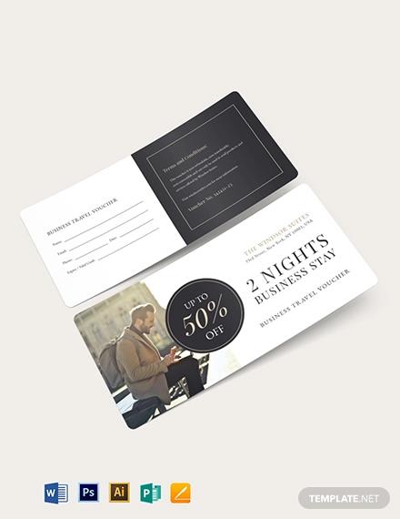 business travel voucher template