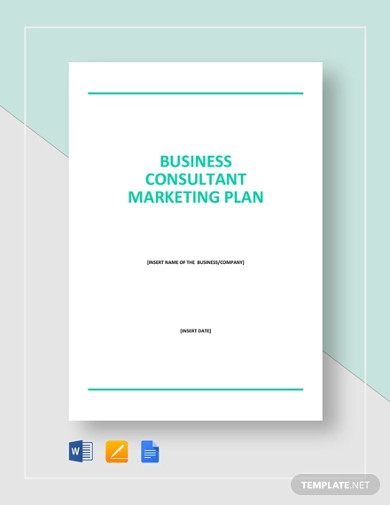 business consultant marketing plan template