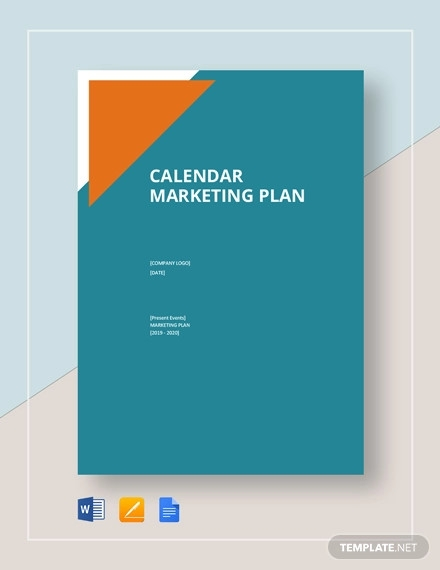 calendar marketing plan template