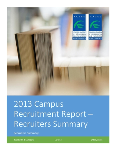 campus recruitment report