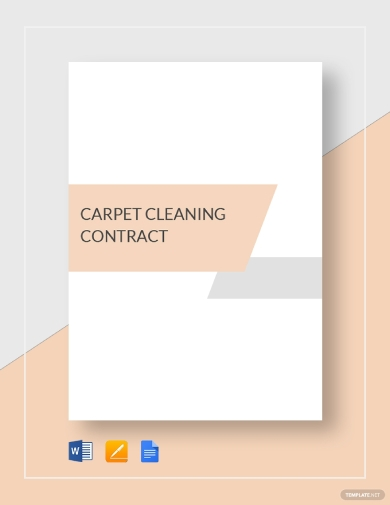 carpet cleaning business contract