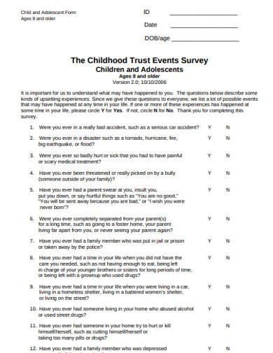 childhood trust events survey