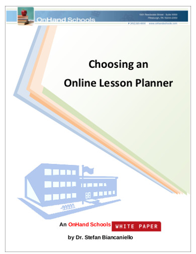 choosing an online lesson planner